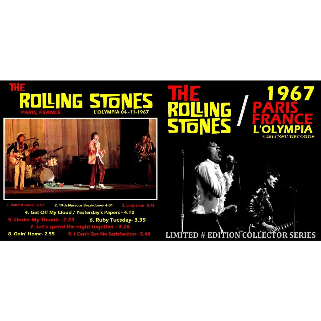 Live Paris France 1967 April 4th Cd By The Rolling Stones