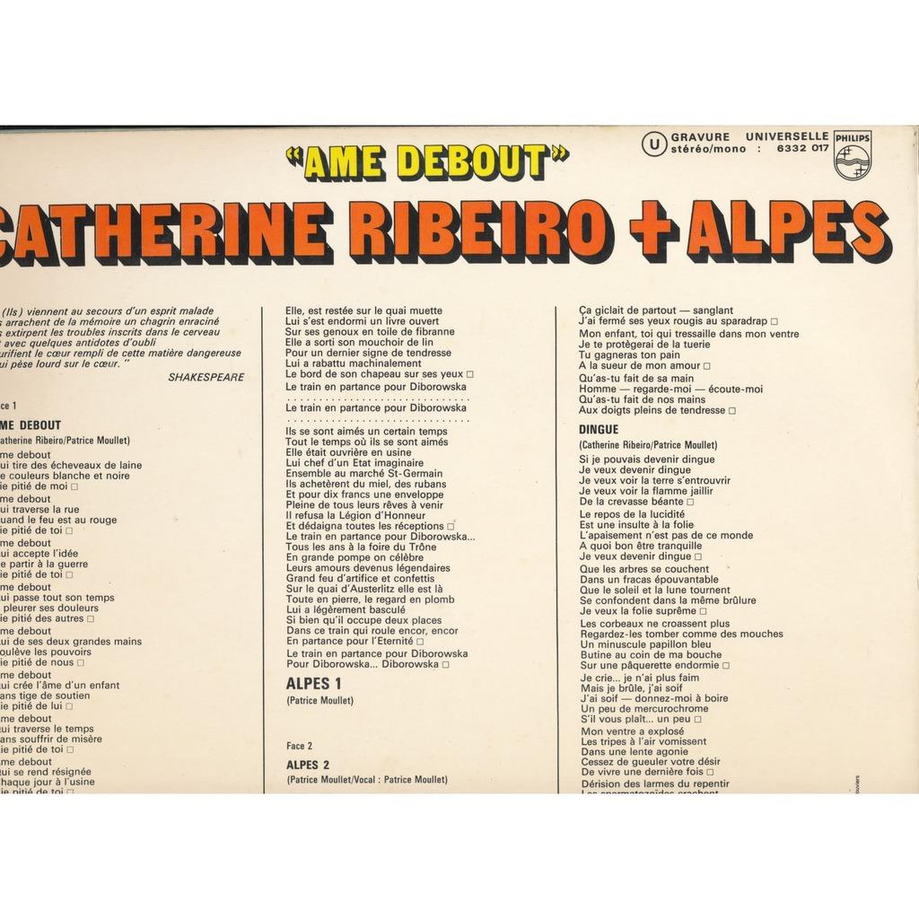 Catherine RIBEIRO + ALPES AME DEBOUT