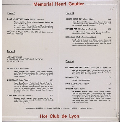Marmite Infernale / Free Jazz Workshop Memorial Henri Gautier (various)
