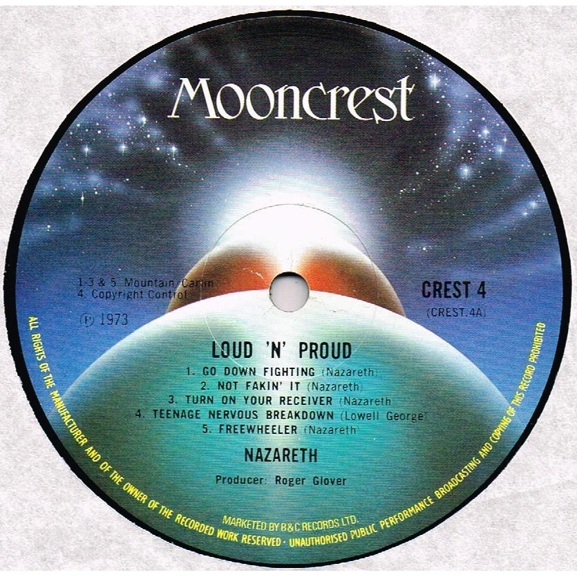 Loud N Proud By Nazareth Lp Gatefold With
