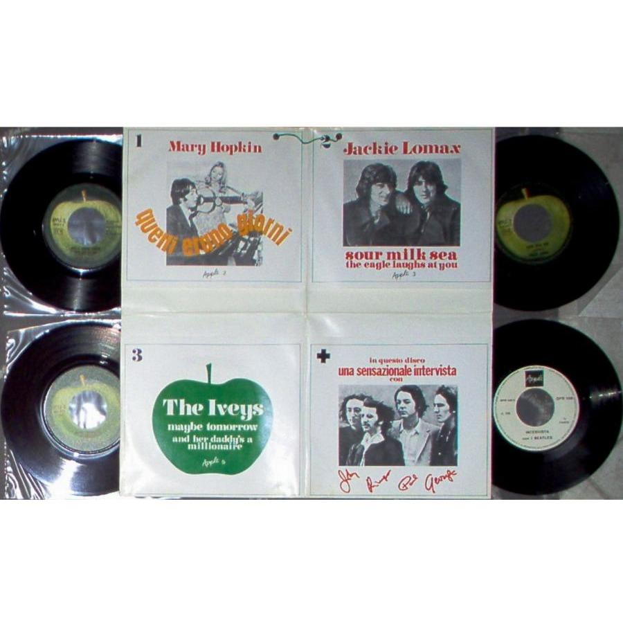Beatles Una Sensazionale Intervista (Italian 1968 4 x 7single package unique gf ps)