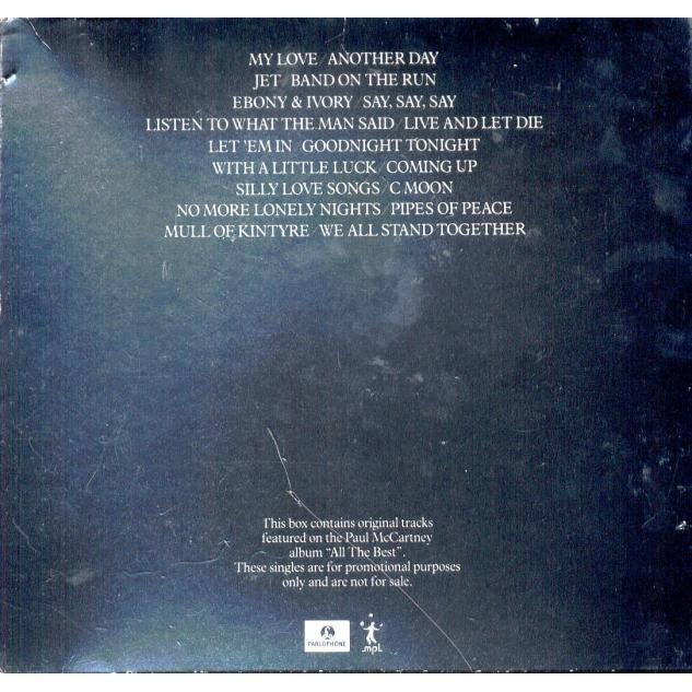 Beatles / Paul McCartney All The Best (UK Ltd 18-trk promo 9x 7singles Box set)