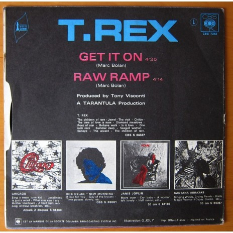 T. REX GET IT ON / RAW RAMP
