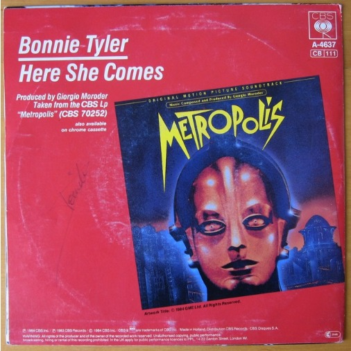 BONNIE TYLER METROPOLIS / HERE SHE COMES