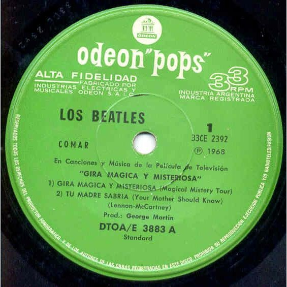 Beatles Gira Magica Y Misteriosa (Argentina 1968 Ltd 2 x 7ep unique spanish gf ps and booklet)