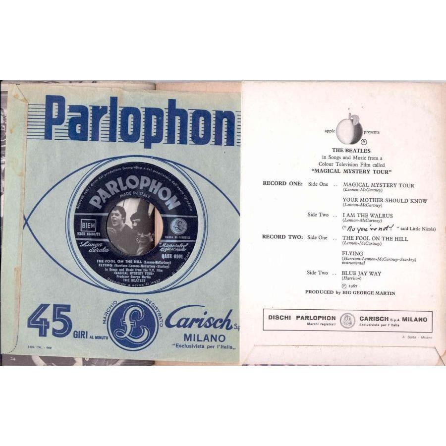 Beatles Magical Mystery Tour (Italian 1968 Ltd 6-trk 2 x 7single gf ps & booklet)