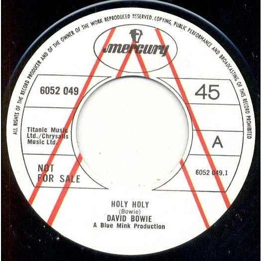 david bowie Holy Holy (UK 1971 re 2-trk w/label demo 7 promo on Mercury lbl)