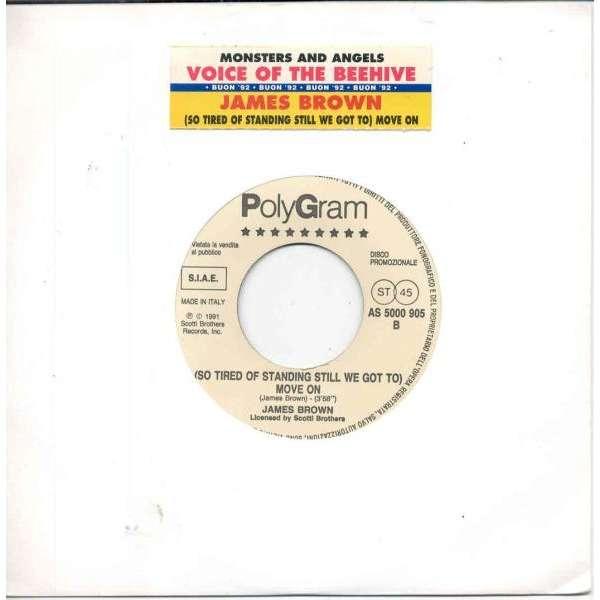 James Brown Move on (Italian 1991 1-trk w/label promo 7single title sticker slv)