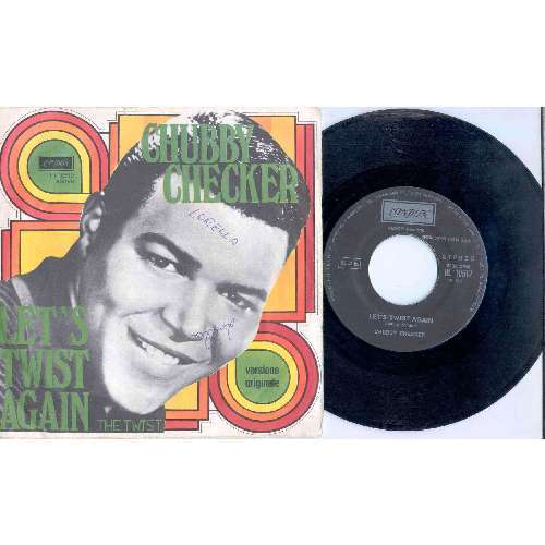 Chubby Checker LET'S TWIST AGAIN (ITALIAN 70S 2-TRK 7 SINGLE FULL PS)