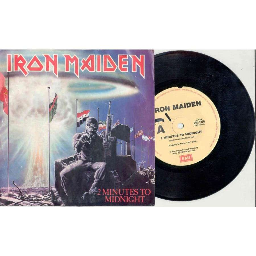 iron maiden 2 Minutes To Midnight (Australian Ltd 2-trk 7single full ps)