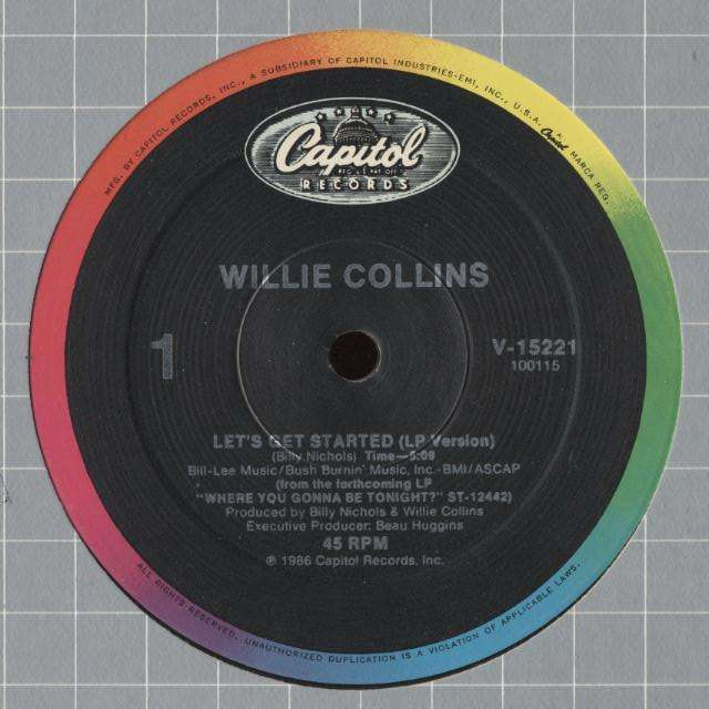 Willie COLLINS let's get started - 2mix / sticky situation , dubmix