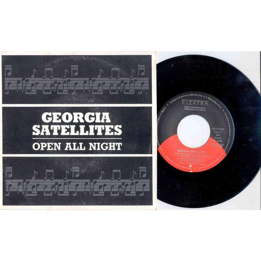 Georgia Satellites Open All Night (Spanish 1988 2-trk promo 7single unique ps)