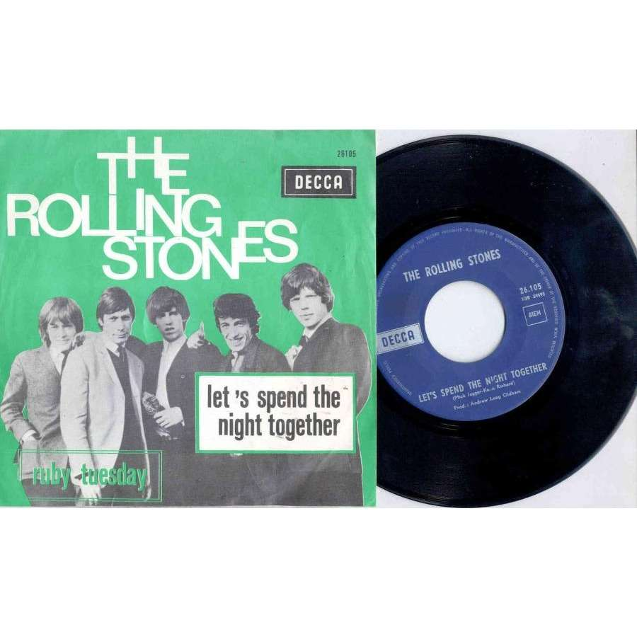 Rolling Stones Let's Spend The Night Together (Belgium 1967 2-trk 7 absolutely full unique ps)
