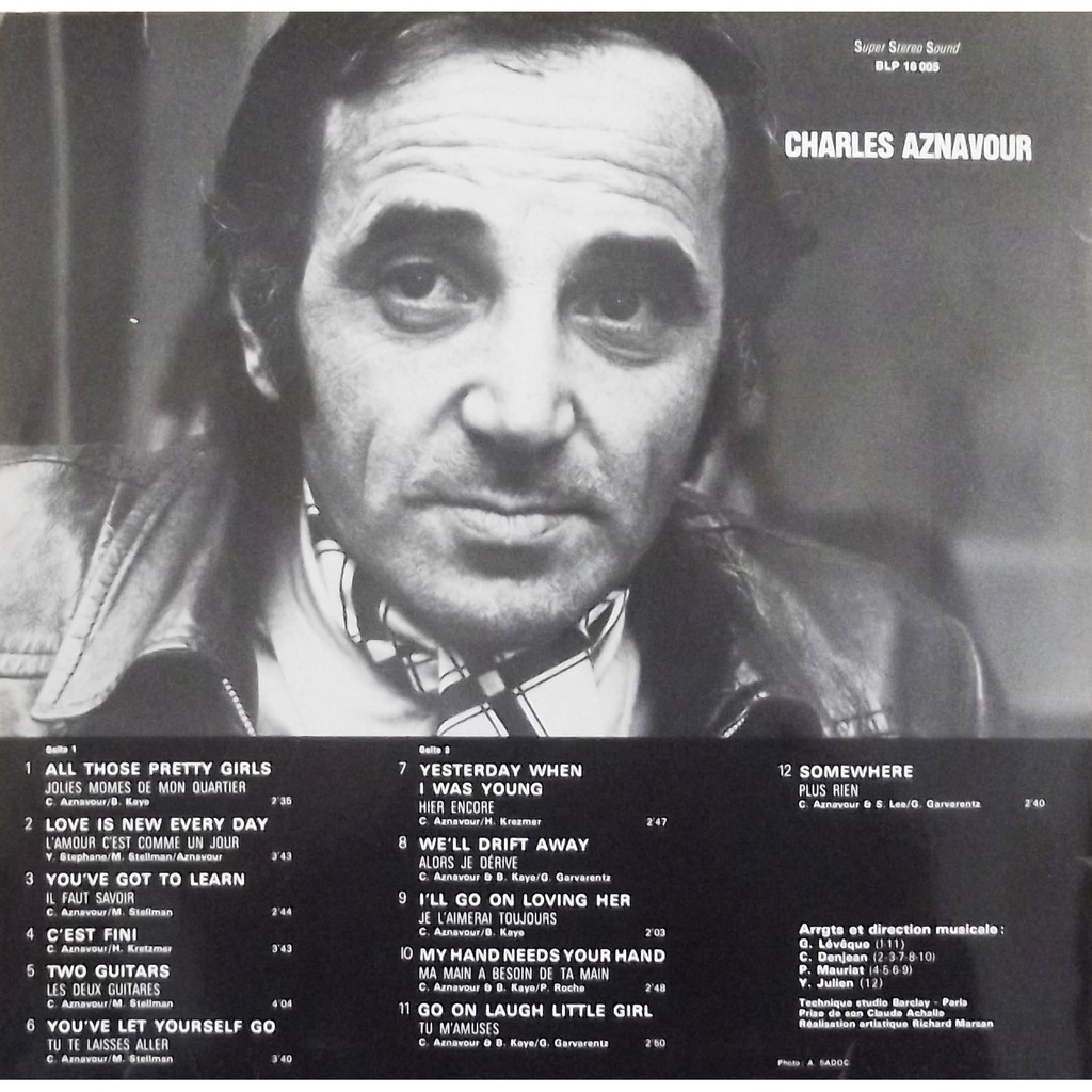Aznavour sings aznavour by Charles Aznavour, LP with