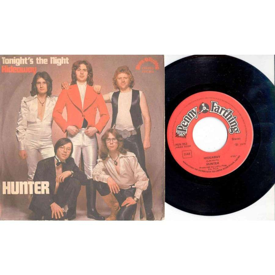 Hunter Tonight's The Night (Italian 1978 2-trk 7single full ps)