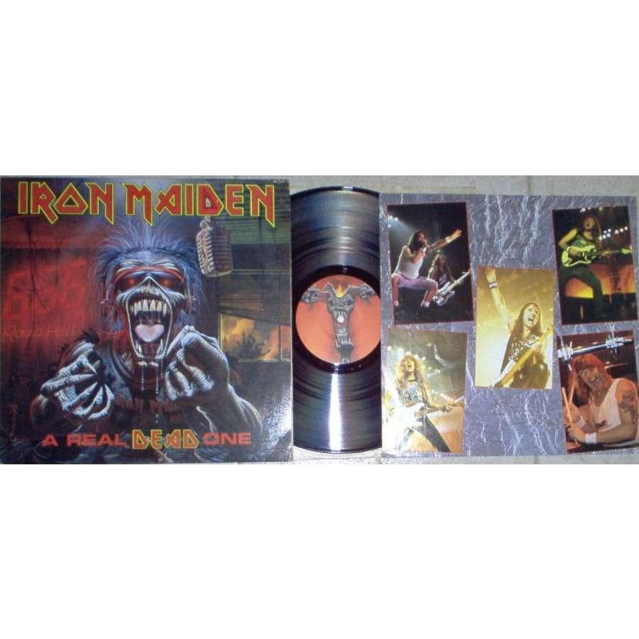 Iron Maiden A Real Dead One (South Korea 1993 Ltd 12-trk LP unique 'misspressed' gf ps & insert)