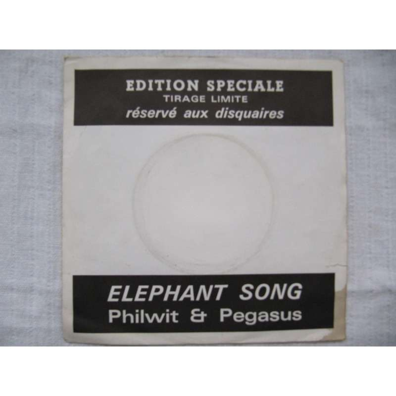 philwit and pegasus The Elephant Song / Pauper's Son (PROMO SLEEVE AND WHITE LABEL)