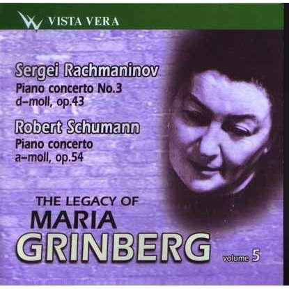 MARIA GRINBERG Legacy Vol.5 Rachmaninov,Schumann Piano Concertos CD RUS NEW