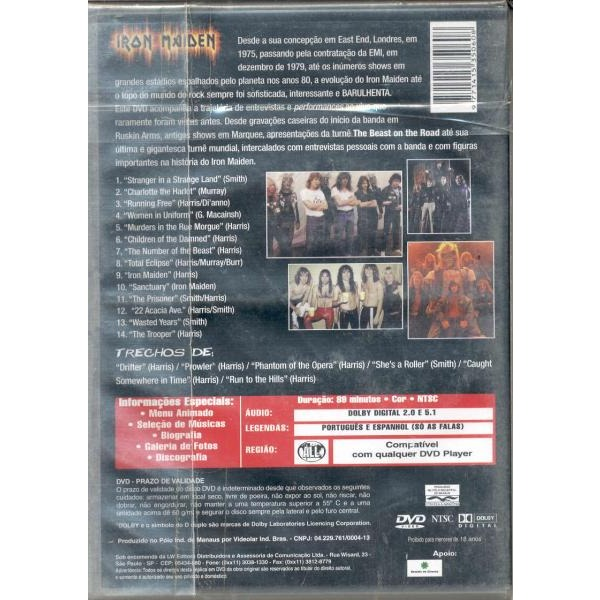 IRON MAIDEN 12 Wasted years (Brazil Ltd 14-trk DVD release great ps)