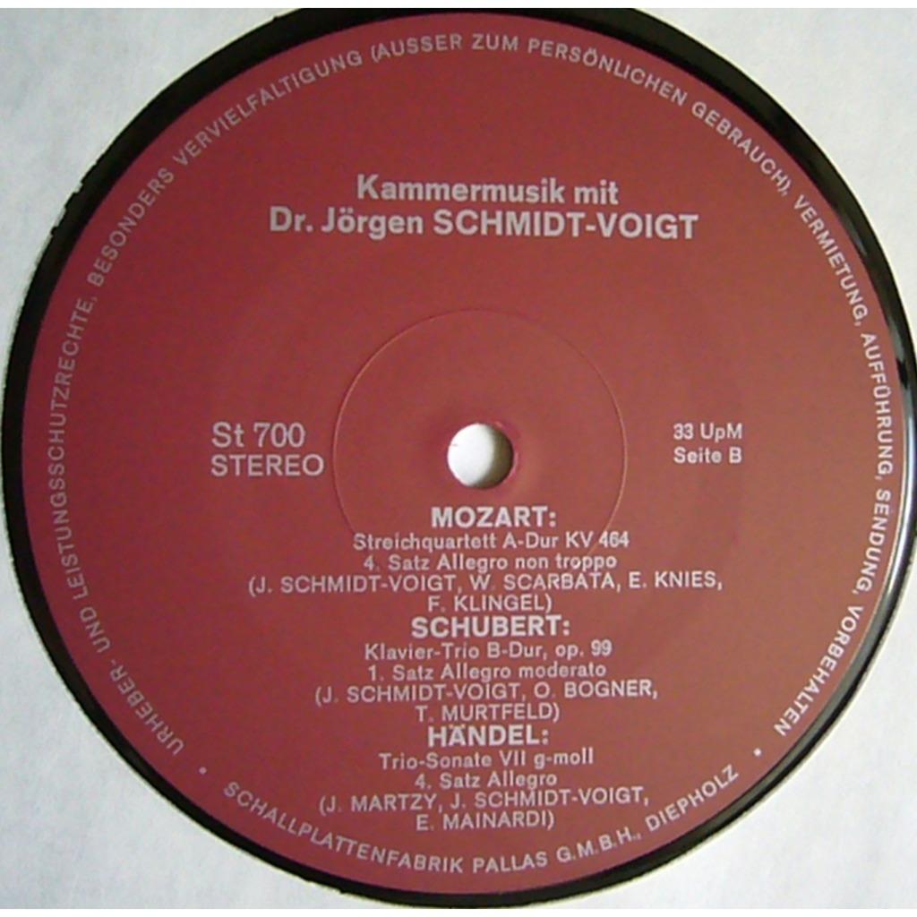 MARTZY MAINARDI SCHMIDT-VOIGT Handel Trio-Sonata, Veracini, Gluck, Mozart, Schubert PRIVATE St 700 MINT