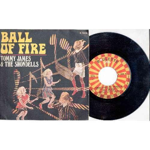 Tommy James & The Shondells BALL OF FIRE (ITALIAN 1969 2-TRK 7 FULL PS)