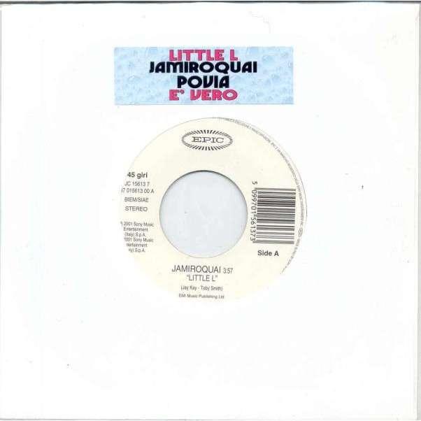 Jamiroquai Little L (Italian 2001 1-trk w/label promo 7single title sticker slv)