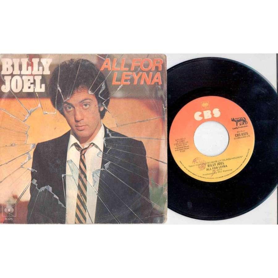 Billy Joel All For Leyna (Italian 1980 2-trk 7single full ps)