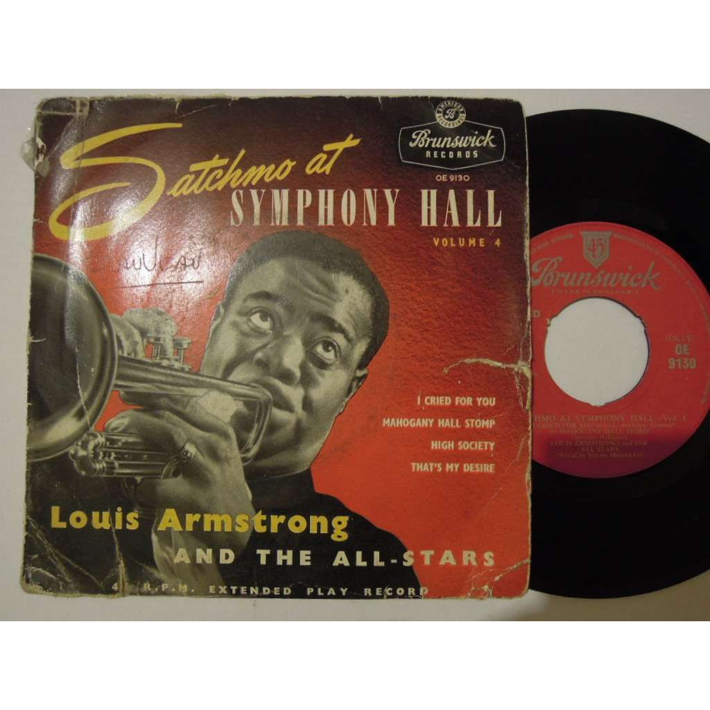 louis armstrong and the all stars satchmo at symphony hall 4 - i cried for you