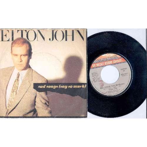 Elton John SAD SONGS (ITALIAN 1984 2-TRK 7 SINGLE FULL PS)