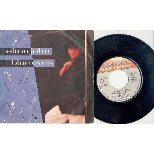 Elton John BLUE EYES (ITALIAN 1982 2-TRK 7 SINGLE FULL PS)