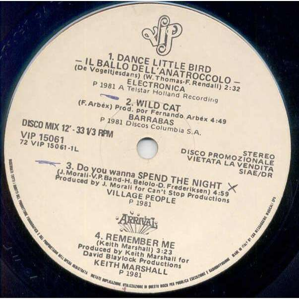 Village People Do You Wanna Spend The Night (Italian 1981 w/label 12ep promo sampler)