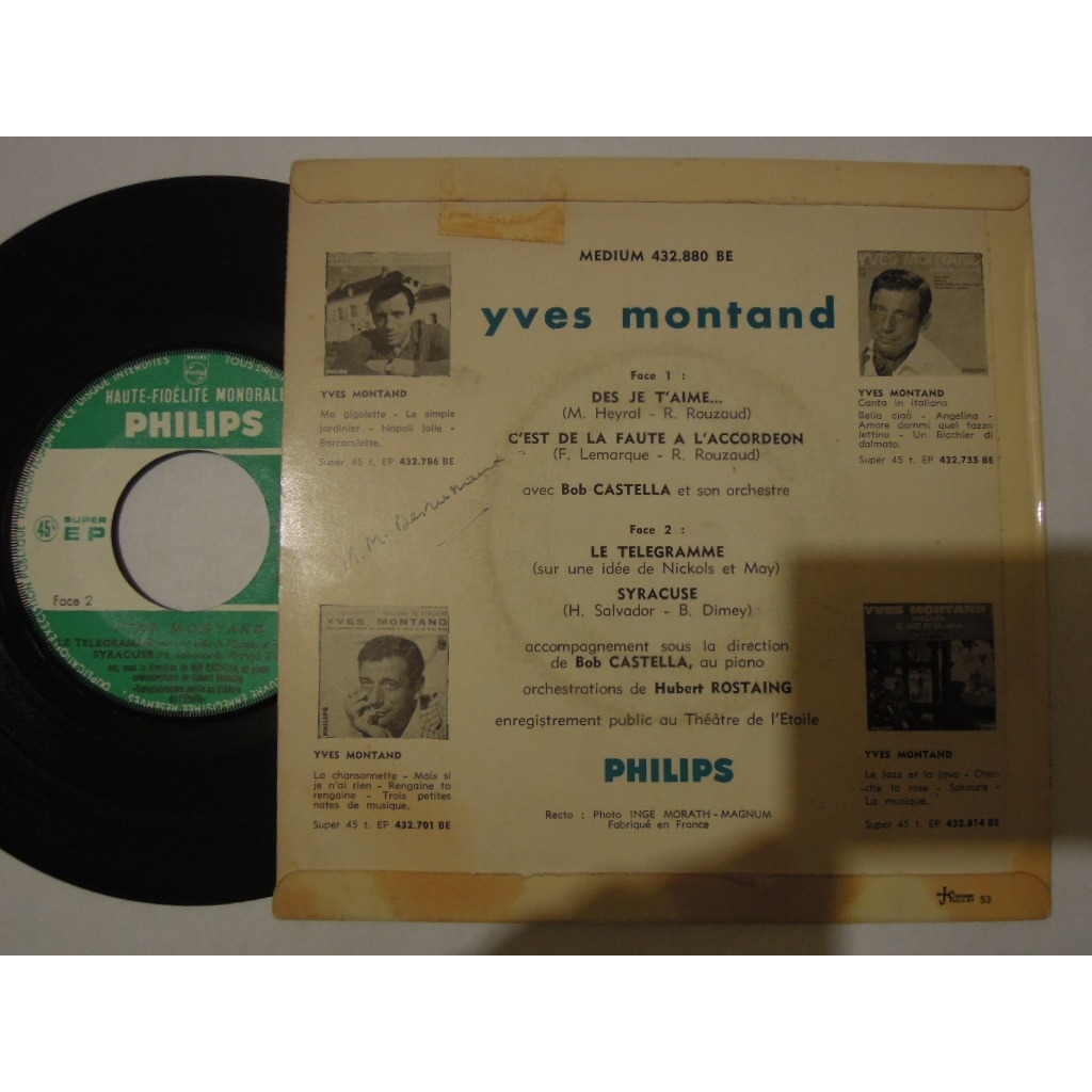 yves montand des je t'aime