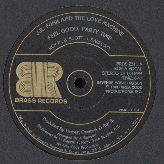 J.R. FUNK & LOVE MACHINE feel good , party time / instru.