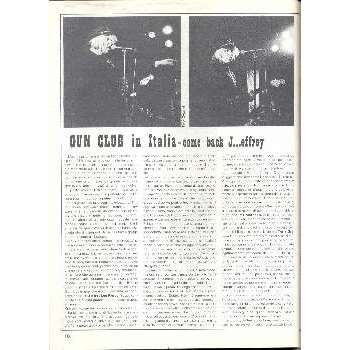 Gun Club ROCKERILLA(N.41 JAN.1984) (ITALIAN 1984 MUSIC MAGAZINE)
