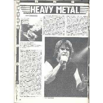 Black sabbath / Ozzy Osbourne ROCKERILLA(N.41 JAN.1984) (ITALIAN 1984 MUSIC MAGAZINE)