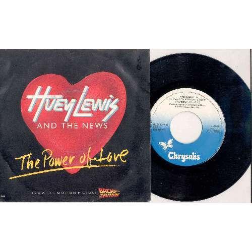 Huey Lewis & The News POWER OF LOVE (ITALIAN 1985 2-TRK 7 FULL PS)