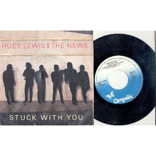 HUEY LEWIS AND THE NEWS STUCK WITH YOU (ITALIAN 1986 2-TRK 7 FULL PS)