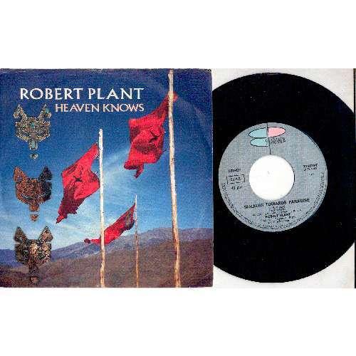 Led Zeppelin / Robert Plant HEAVEN KNOWS (ITALIAN 1988 2-TRK 7 FULL PS)