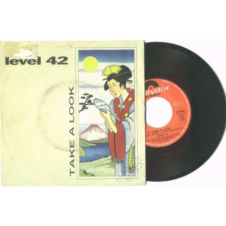 Level 42 TAKE A LOOK (ITALIAN 1988 2-TRK 7 PROMO SINGLE FULL PS)