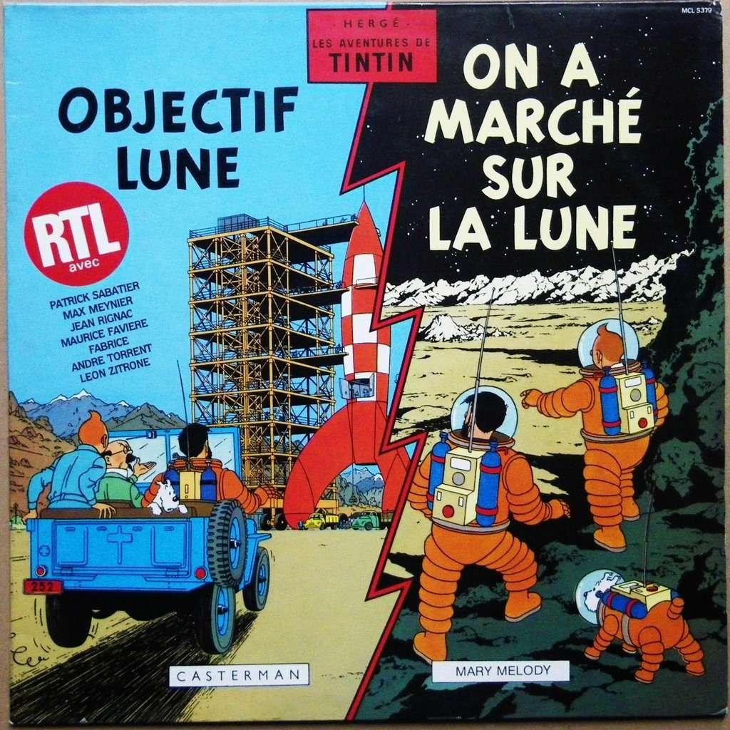 Préférence Objectif lune - on a marché sur la lune de Tintin - Hergé, 33T  IC53