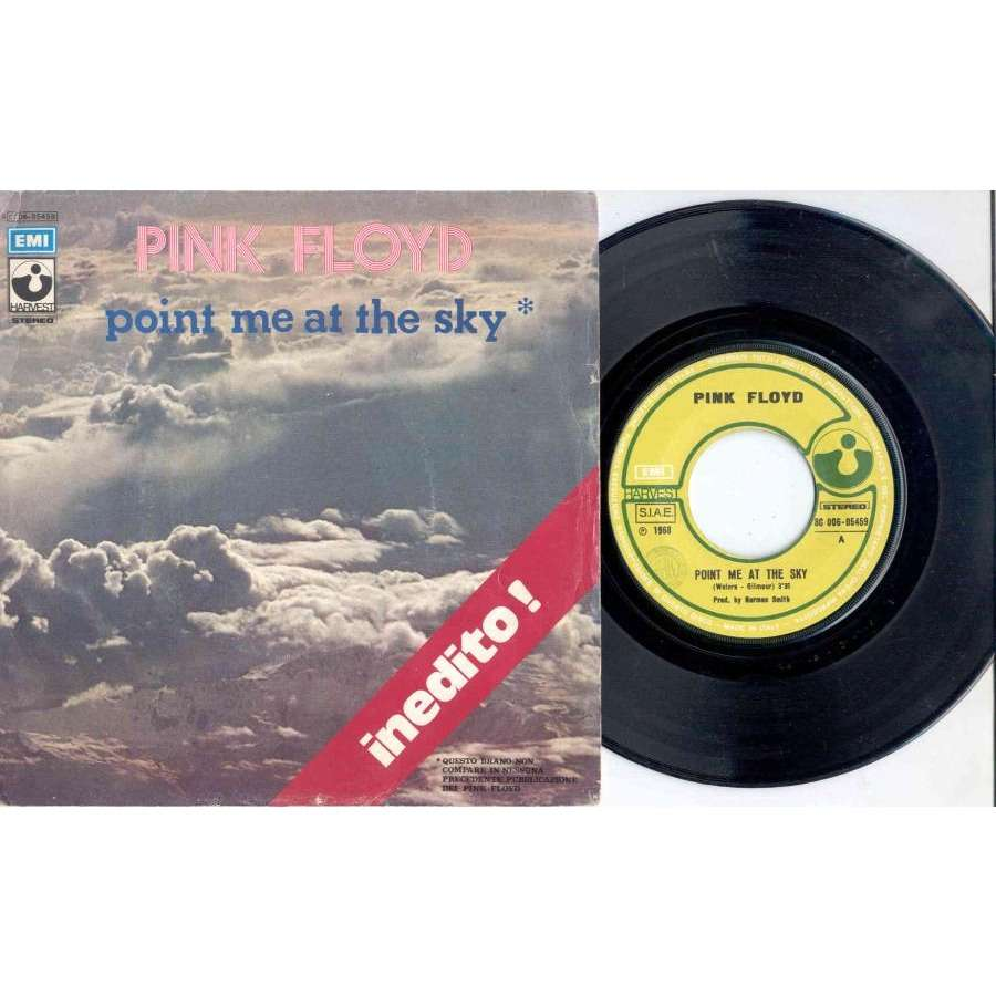 Pink Floyd Point Me At The Sky (Italian 1973 2nd issue 2-trk 7single unique 'Inedito' ps)