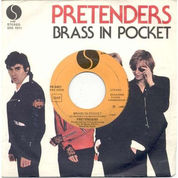 Pretenders Brass in pocket (Italian 1980 1-trk promo 7single unique die-cut promo ps)