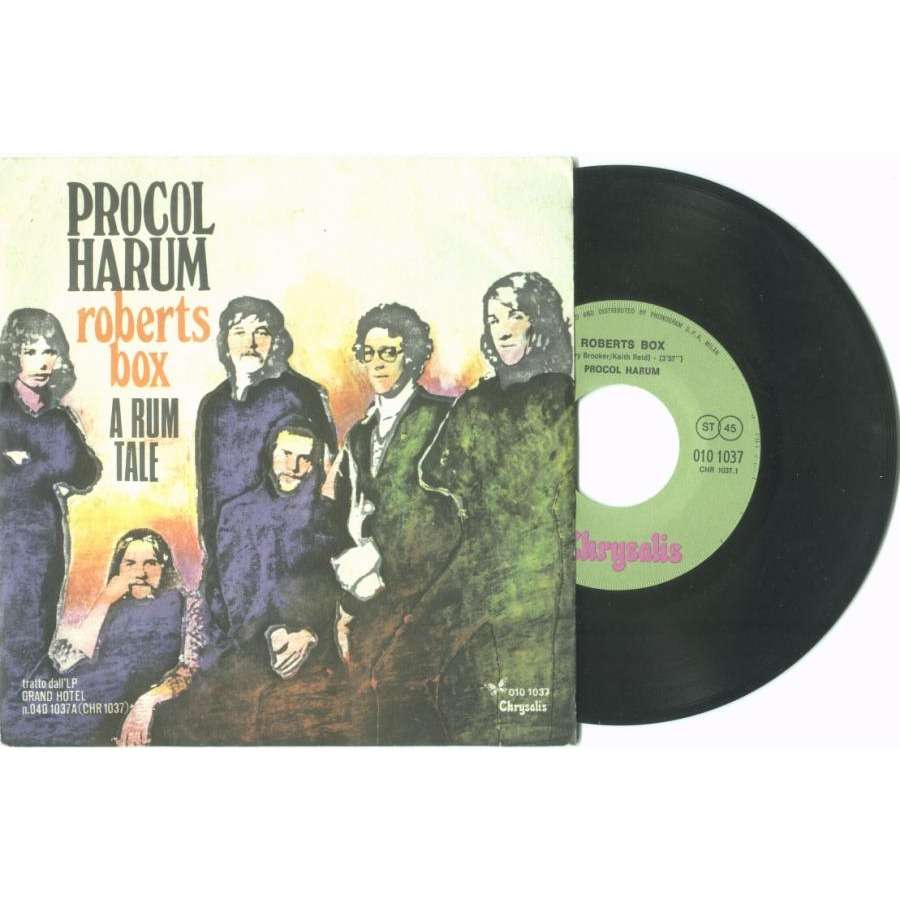Procol Harum Roberts Box (Italian 1973 2-trk single unique ps)