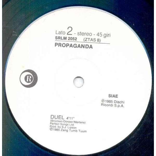 Propaganda Duel (Italian 1985 1-trk w/label 12EP promo Company slv)