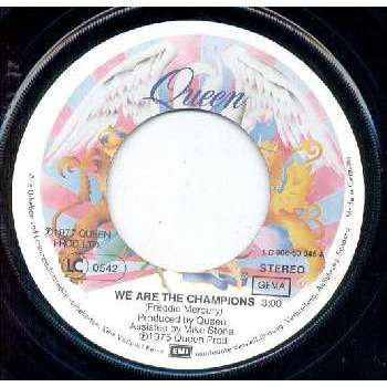 Queen WE ARE THE CHAMPIONS (GERMAN 1977 2-TRK 7 ON PICTURE LBL)