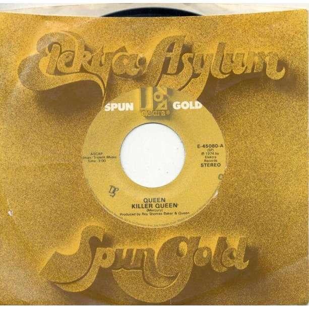 Queen Killer Queen (USA 80s Ltd 'Spun Gold' 2-trk 7single Company slv)