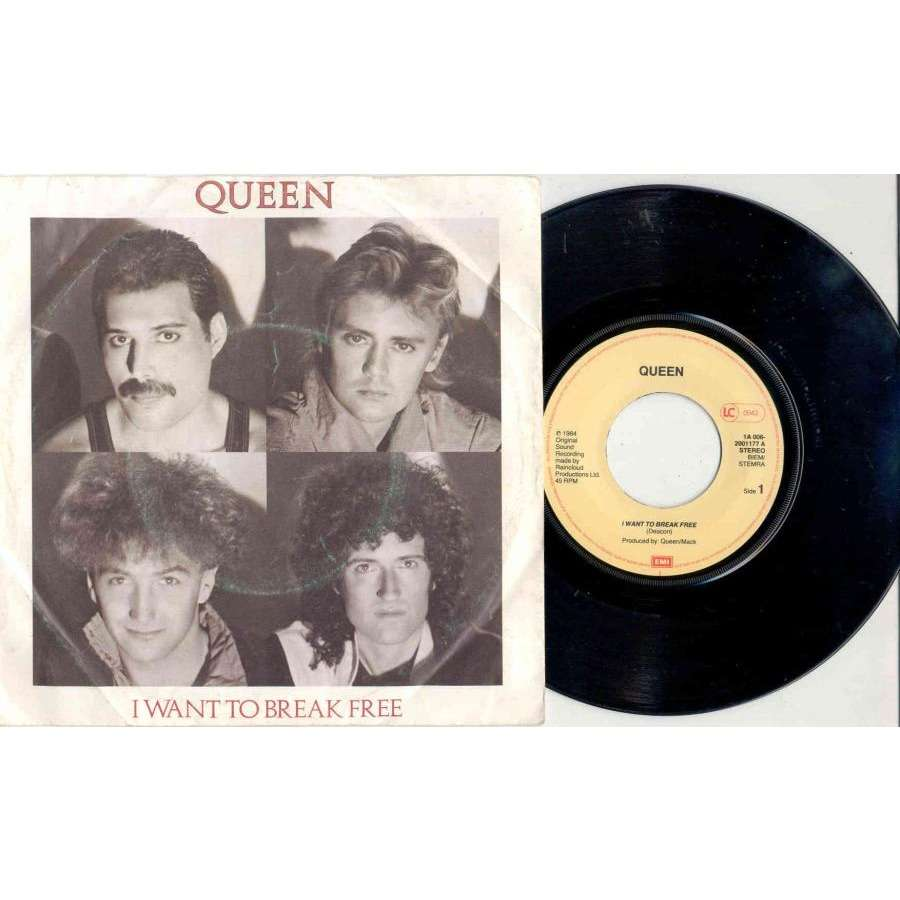 queen I Want To Break Free (Holland 1984 2-trk 7single full ps)