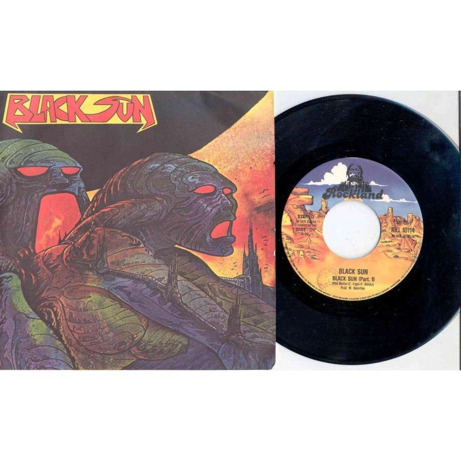 Rockets / Black Sun Black Sun (Italian 1978 2-trk 7single on Rockland lbl full ps)