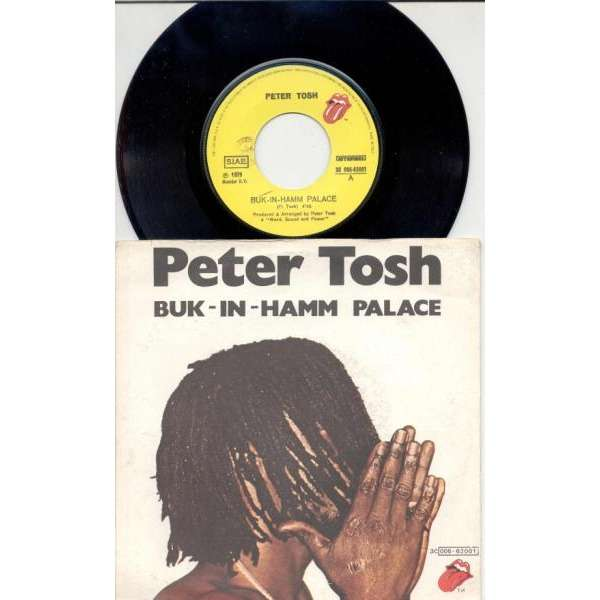 Rolling Stones / Peter Tosh Buk-In-Hamm Palace (Italian 1979 2-trk 7single on RS lbl full ps)
