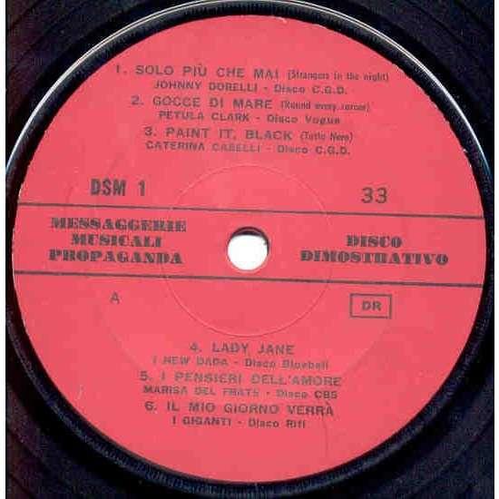 Rolling Stones / Caterina Caselli Paint It Black (Italian 1966 Stones cover promo 7ep sampler Company slv)